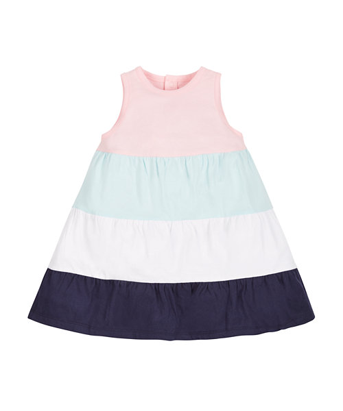 Tiered Colourblock Dress