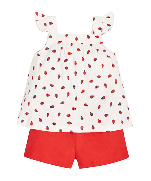 Ladybird T-Shirt and Shorts Set