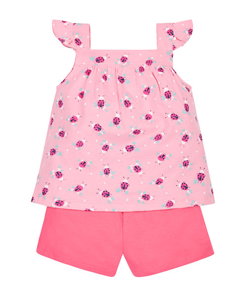 Ladybird Vest and Shorts Set