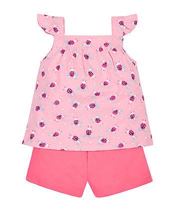 Ladybird Vest and Shorts Set