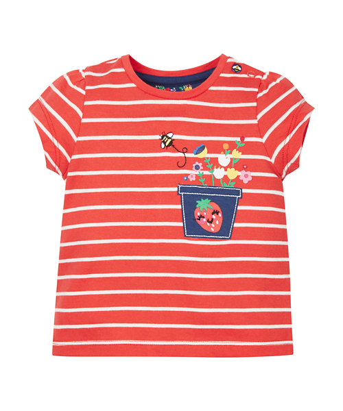 Red Striped Plant Pot T-Shirt