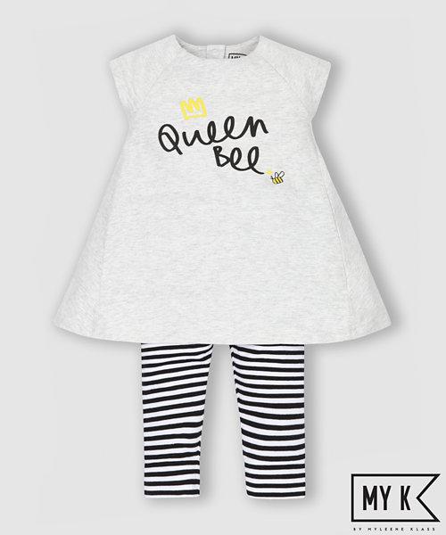 My K Queen Bee Dress and Leggings Set