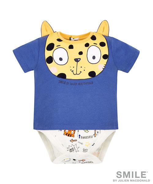 SMILE by Julien Macdonald - Leopard Mock T-Shirt Bodysuit