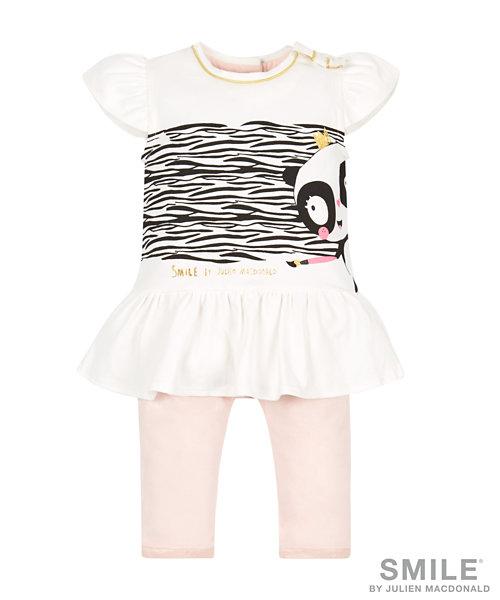 SMILE by Julien Macdonald - Zebra Stripe Dress and Pink Leggings