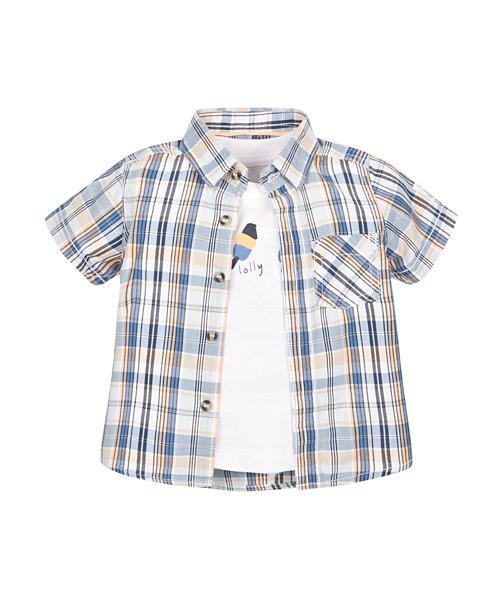 Check Shirt and Tee Set