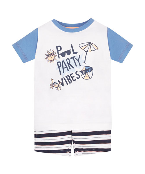 Pool Party T-Shirt and Shorts Set