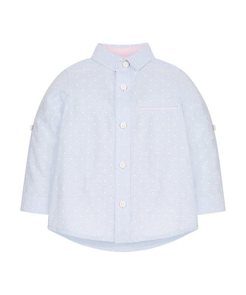 Polka Dot Roll Up Shirt