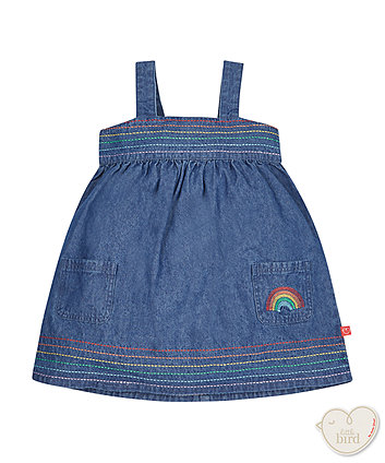Little Bird by Jools Chambray Rainbow Dress