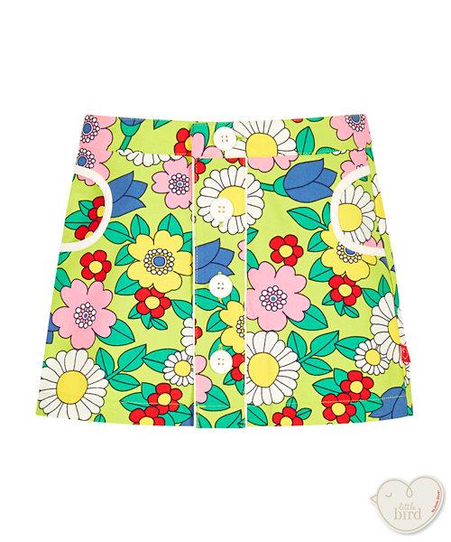 Little Bird Floral Canvas Skirt