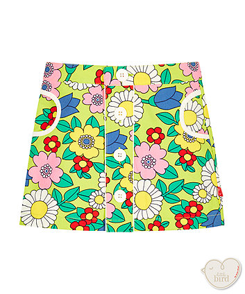 Little Bird Floral Canvas Skirt