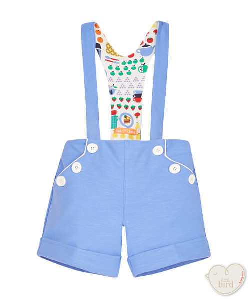 Little Bird by Jools Tailored Shorts with Braces