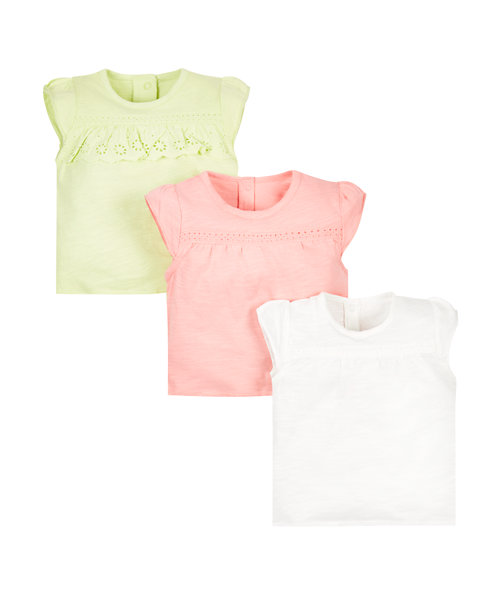 Broderie T-Shirts - 3 Pack