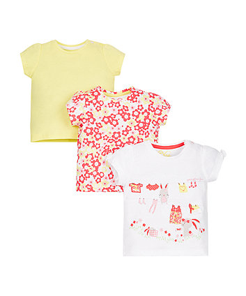 Floral T-Shirts - 3 Pack
