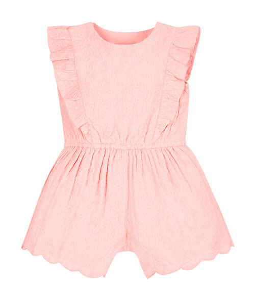 Coral Broderie Playsuit