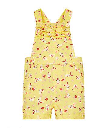 Yellow Bunny Bibshorts