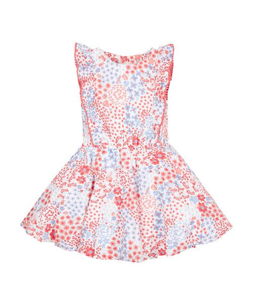 Floral Pom Pom Dress