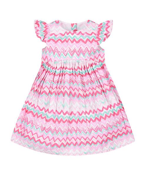 Zig Zag Woven Dress