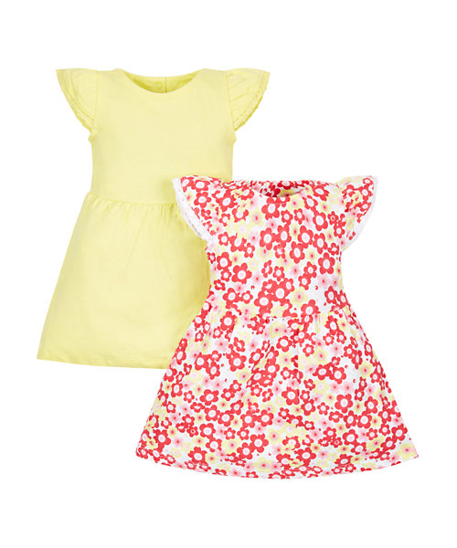Floral and Yellow Dresses - 2 Pack