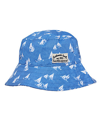 Blue Boat Bucket Hat