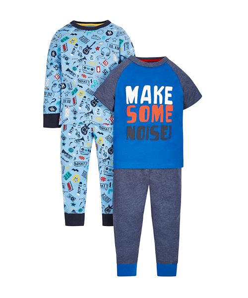Make Some Noise Pyjamas - 2 Pack