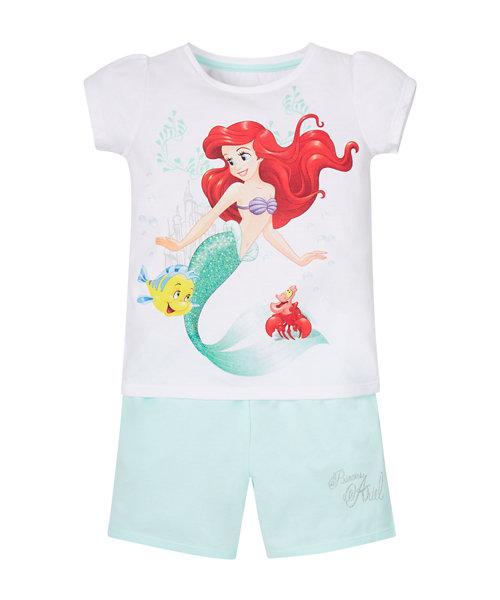 Disney Little Mermaid Shortie Pyjamas