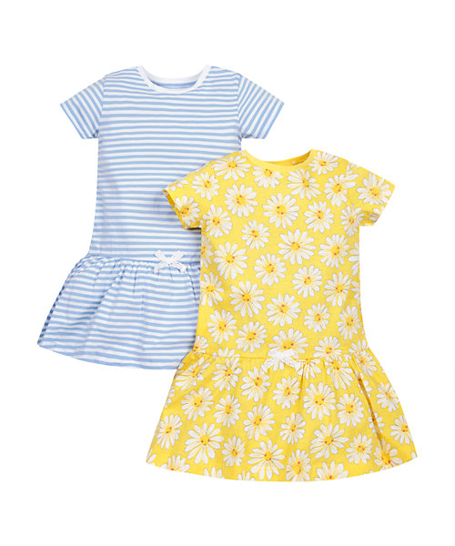 Daisy and Stripe Dress - 2 Pack