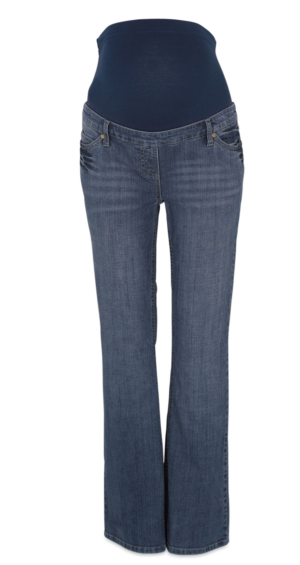 M2b Full Basque Slim Bootcut Jeans  Petite