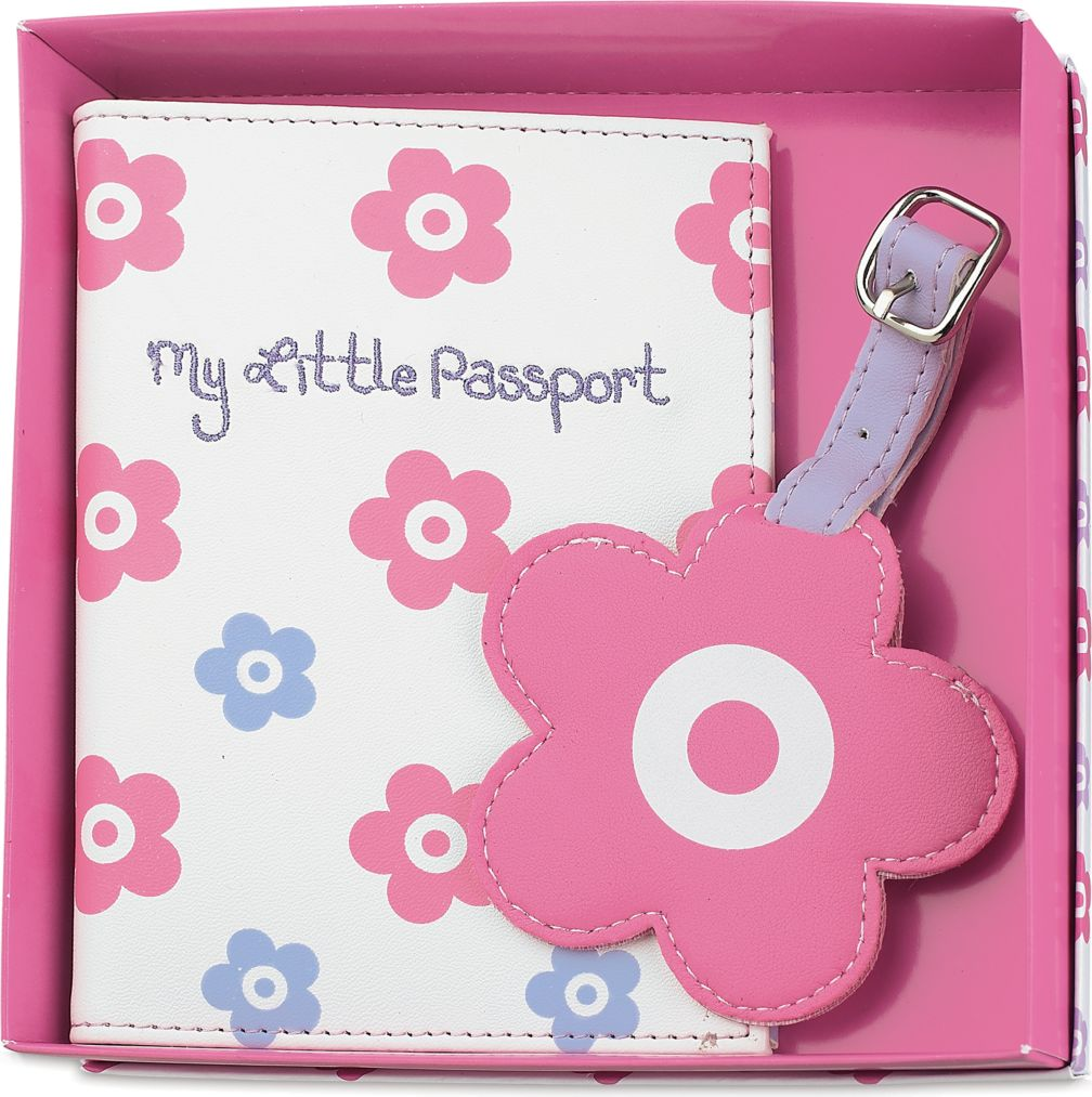 Little flower passport holder and luggage tag