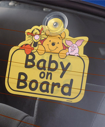 Disney Winnie The Pooh Baby On Board Sign