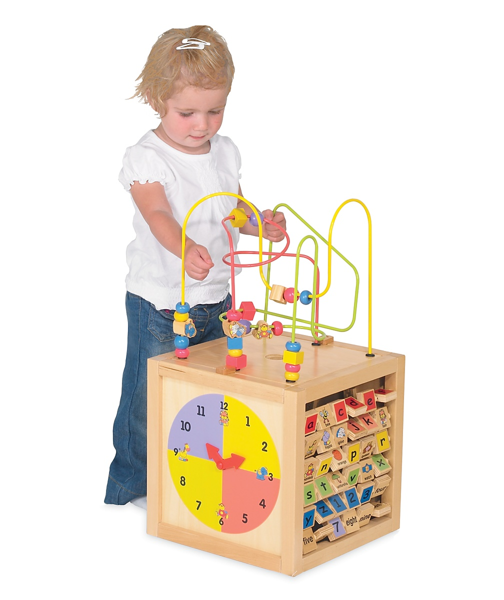 Happy Safari Wooden Activity Cube