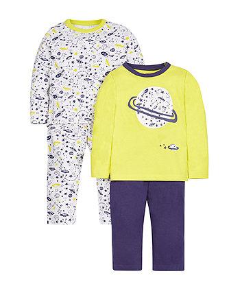 Space Explorer Pyjamas - 2 Pack