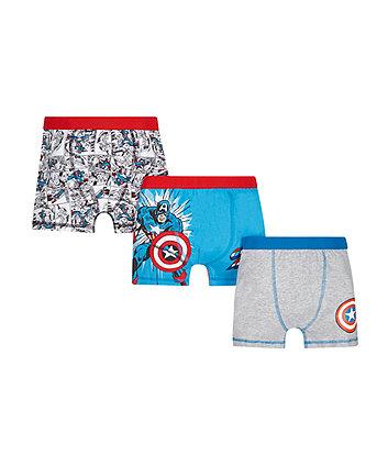 Marvel Captain America Trunks - 3 Pack