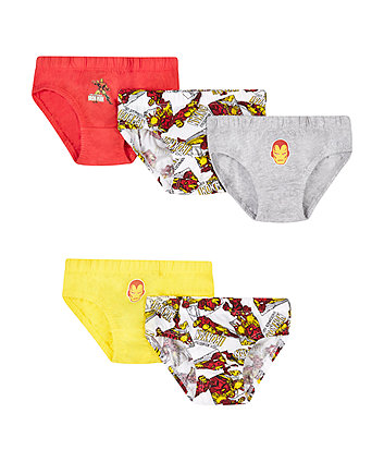 Marvel Ironman Briefs - 5 Pack