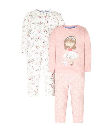 Floral Pyjamas - 2 Pack