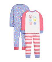 Cat And Bunny Pyjamas - 2 Pack