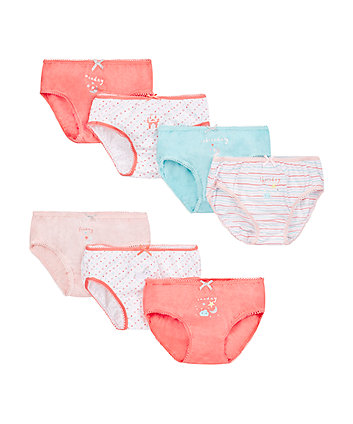 Princess Days Of The Week Briefs - 7 Pack
