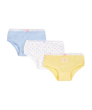 Spotty Hipster Briefs - 3 Pack