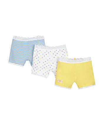 Spot And Stripe Mod Shorts - 3 Pack