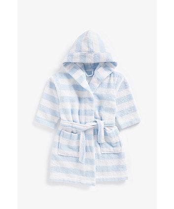 Blue Stripe Towelling Robe