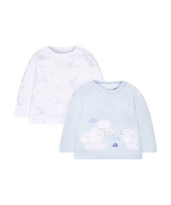 My First Animal Print T-Shirts - 2 Pack