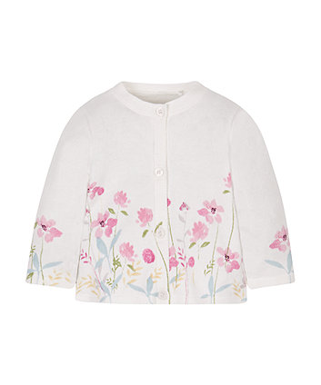 Floral Border Cardigan