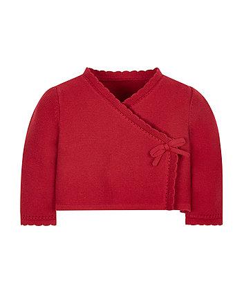 Red Ballet Wrap Cardigan
