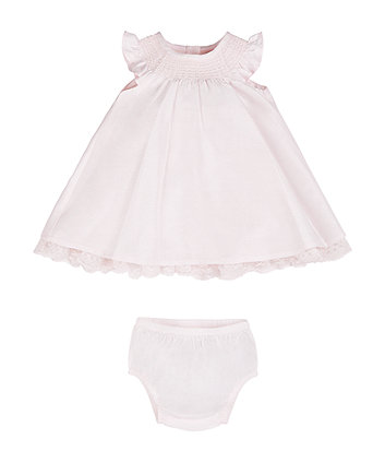 Pink Dress And Knickers Set