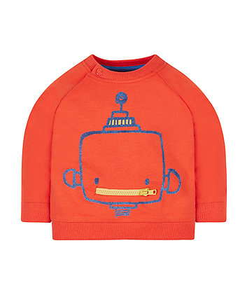 Red Robot Sweat Top