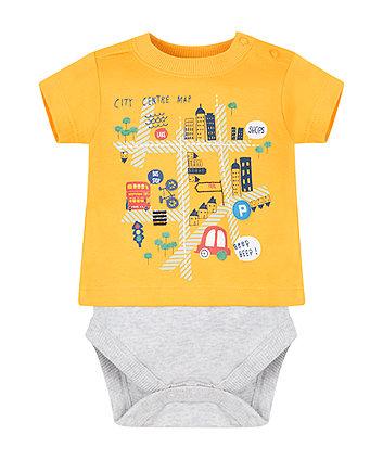 City Map Mock T-Shirt Bodysuit