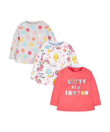 Cute As A Button T-Shirts - 3 Pack