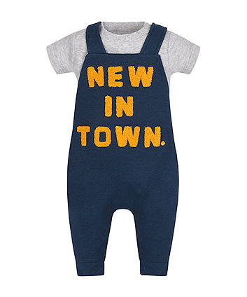 New In Town Bodysuit And Dungaree Set