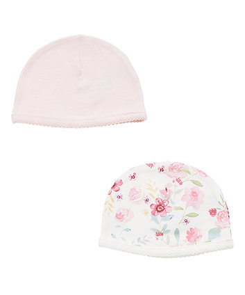 Floral Pink Hats - 2 Pack
