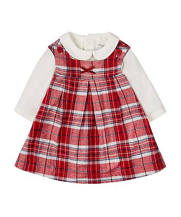 Check Dress And Bodysuit Set