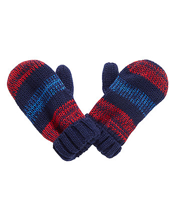 Red And Blue Twist Mitts